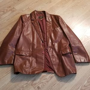 Mens leather jacket size 46